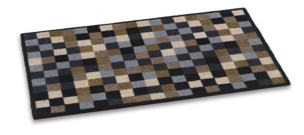 Ambiance 50 x 75cm coir door mat - barrier entrance door mat brown/cream/black