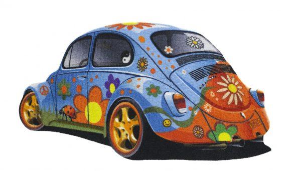 VW car floor mat - VW car entrance mat - blue