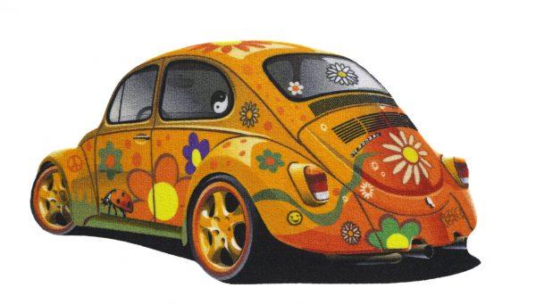 VW car floor mat - VW car entrance mat - orange