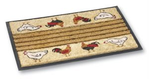 Dogger chicken coir door mat - coir entrance mat