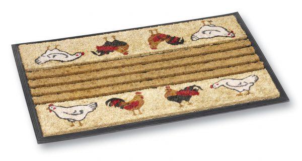 Dogger chicken coir door mat - coir entrance mat