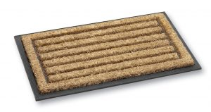 Fitzroy straight rib coir door mat - coir entrance mat