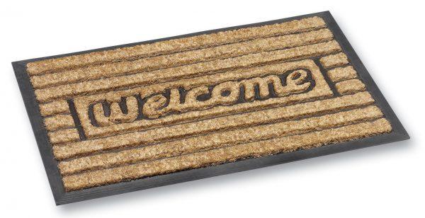 Fitzroy welcome coir door mat - coir entrance mat