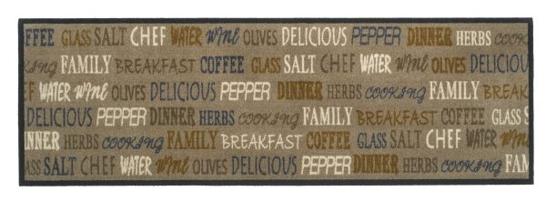 Galley Kitchen Runner Delicious Breakfast Polyamide printed kitchen runner, pileweight 300 gr/sq.m, micro-flex non-slip backing