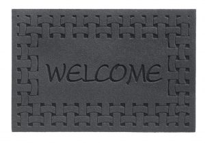 Laser Indoor Barrier Welcome Grey barrier floor mat - entrance mat