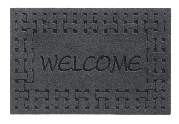 Laser Indoor Barrier Welcome Grey barrier floor mat - entrance mat