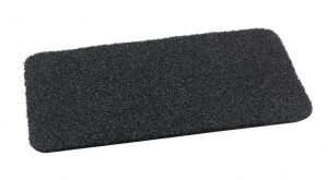 Portal Top Scrape Plain Anthracite outdoor mat Heavy Duty Polyethylene Scraper mat with flexible drainage backing