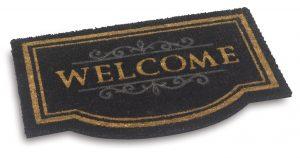 Vico Mat Welcome Classic Black coir door mat - coir entrance floor mat